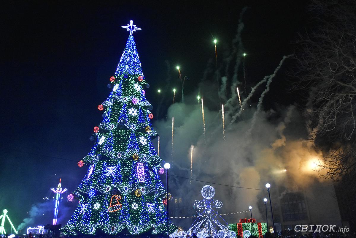 Открытие елки города