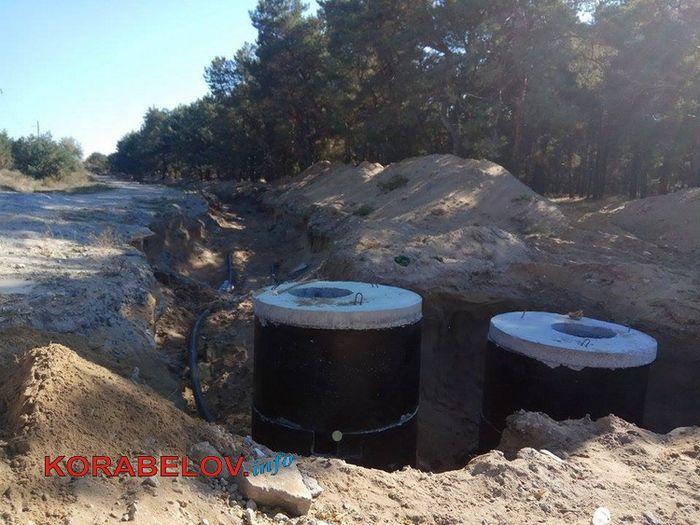 Балабановский лес перерыли для проведения канализационных труб к порту