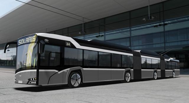 В Польше разработали сверхдлинный троллейбус