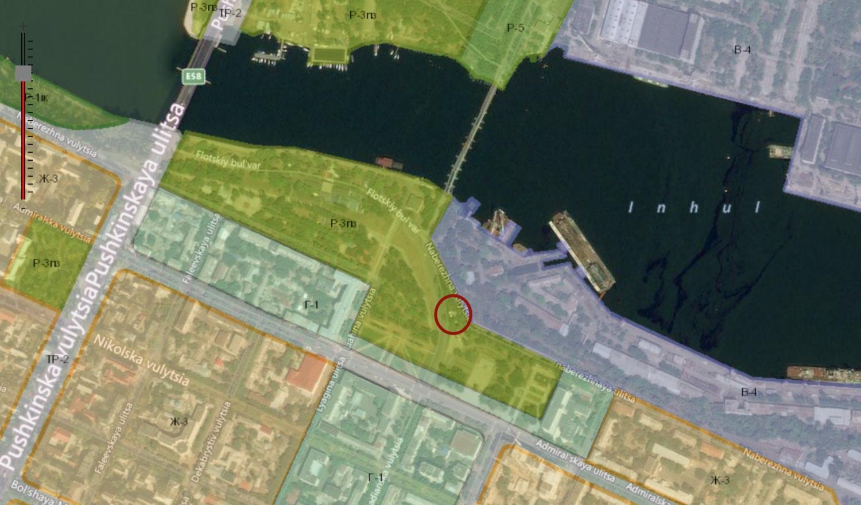 Земельный участок на Набережной, где ведется незаконная стройка, находится в рекреационной зоне