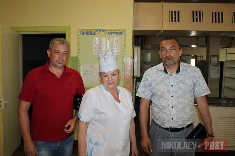 Новое руководство николаевского КОПа проверило качество детского питания в школах