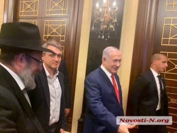 Бизнесмен Алексей Пелипас и раввин Николаева Шалом Готтлиб встретились с премьером Израиля