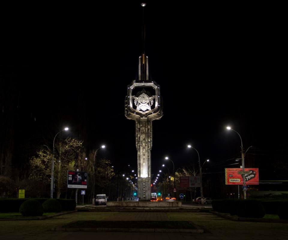 Один из главных проспектов Николаева получил современное освещение