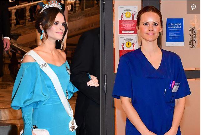 Коронавирус. Принцесса Швеции София пошла работать в больницу медсестрой