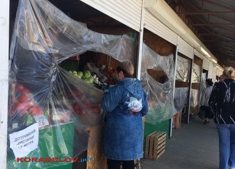 Как на рынке в Корабельном районе соблюдают карантинные правила