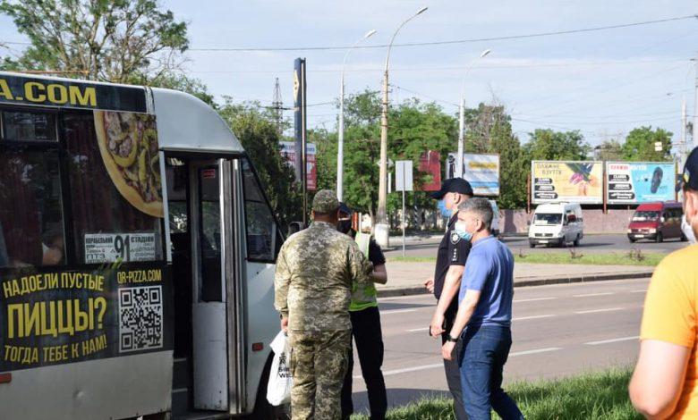 В Николаеве проверяли количество пассажиров и наличие масок