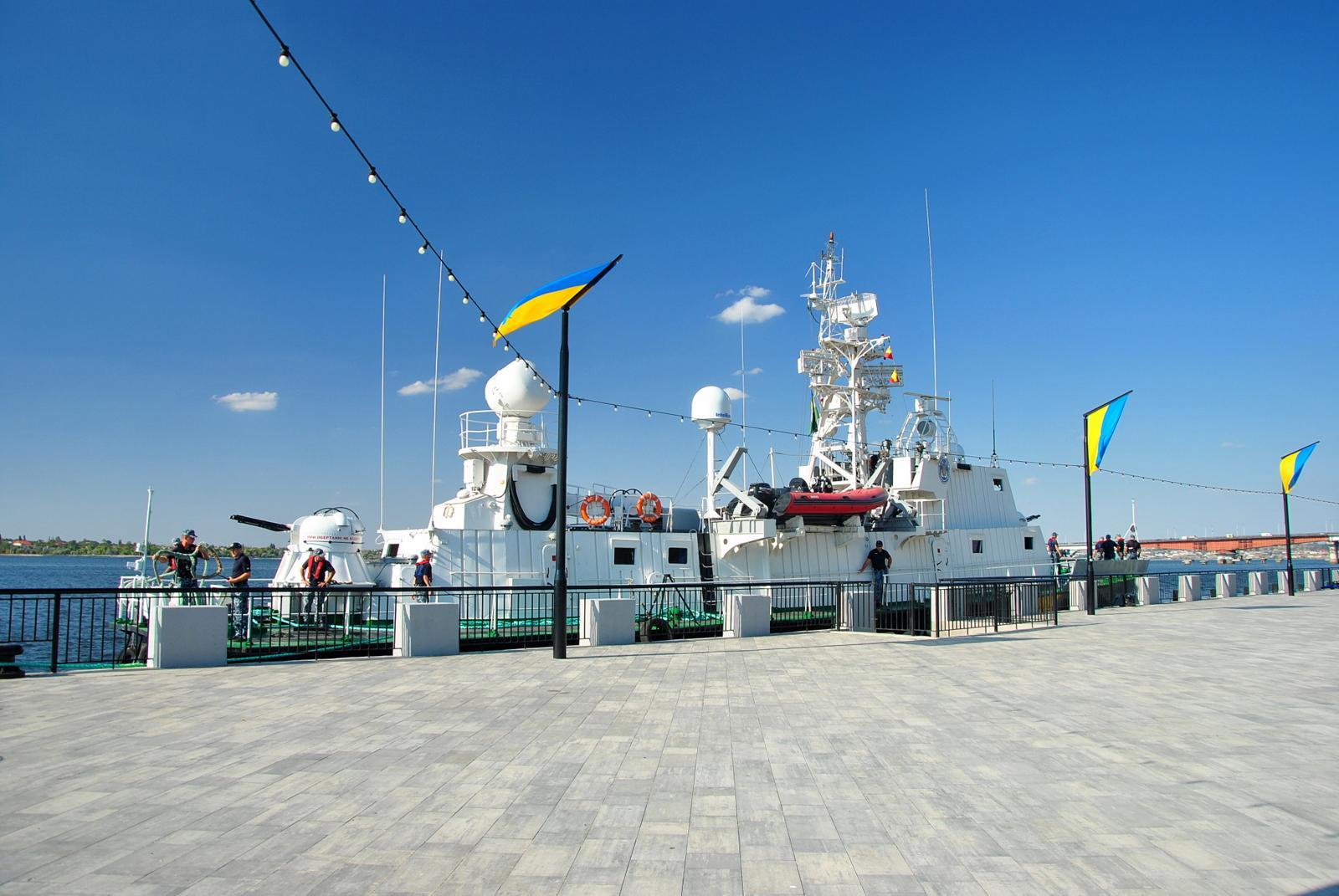 В честь 321-й годовщины основания Николаева в город зашел одноименный корабль морской охраны