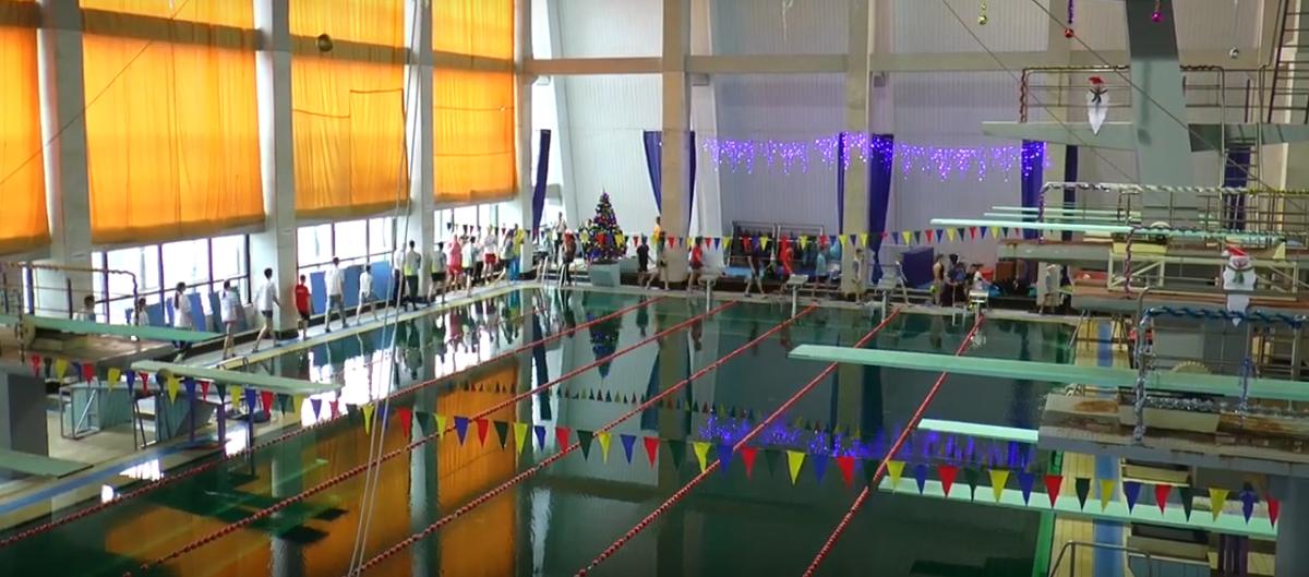 В Николаеве в спорткомплексе «Водолей» прошел традиционный новогодний детский заплыв