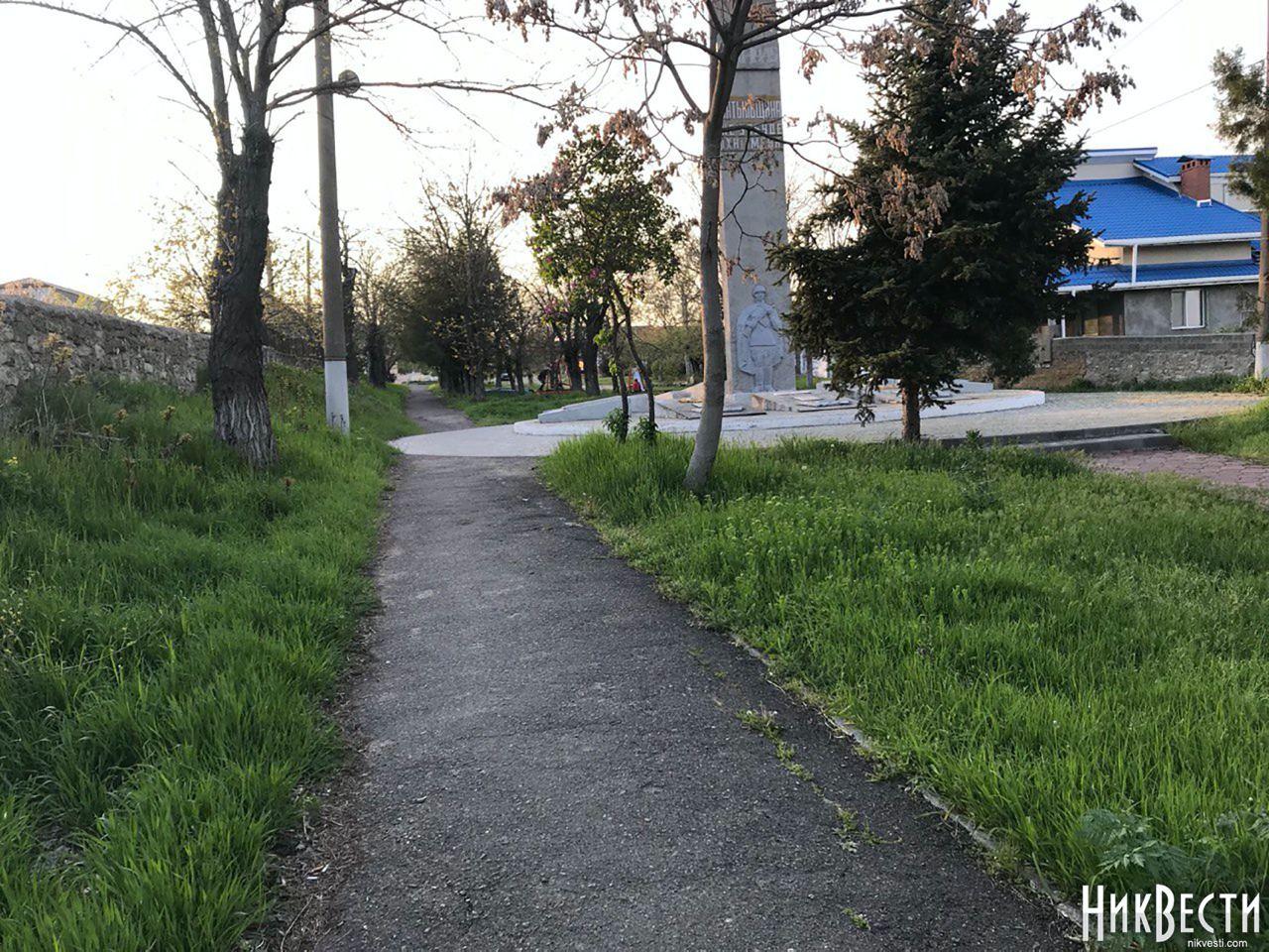 Администрация Центрального района не привела в порядок парк Славы в Матвеевке ко Дню Победы