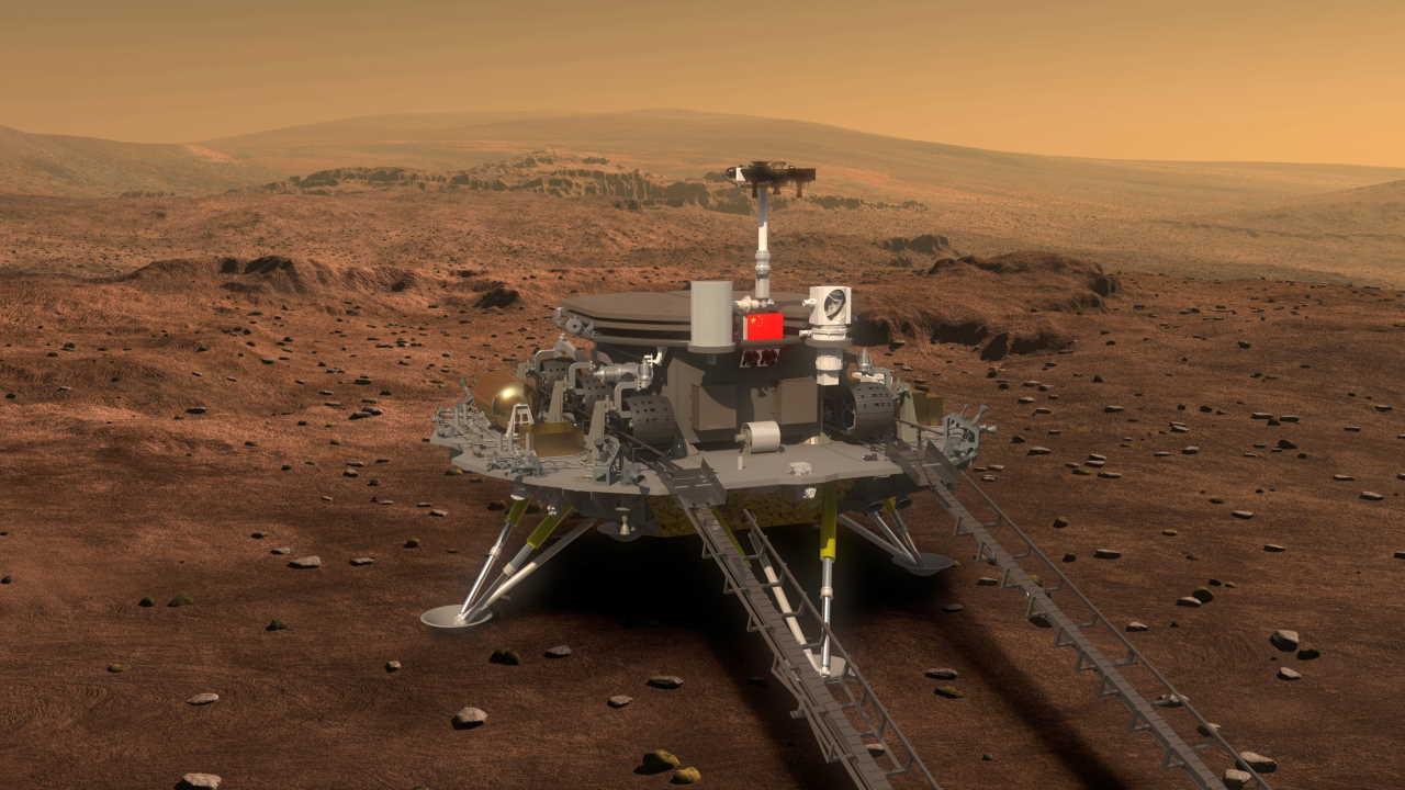 Первый китайский марсоход успешно приземлился на Марсе
