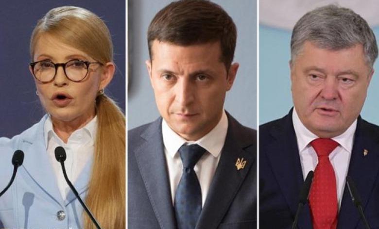 Тимошенко и Зеленский лидируют в президентской гонке, Порошенко идет третьим