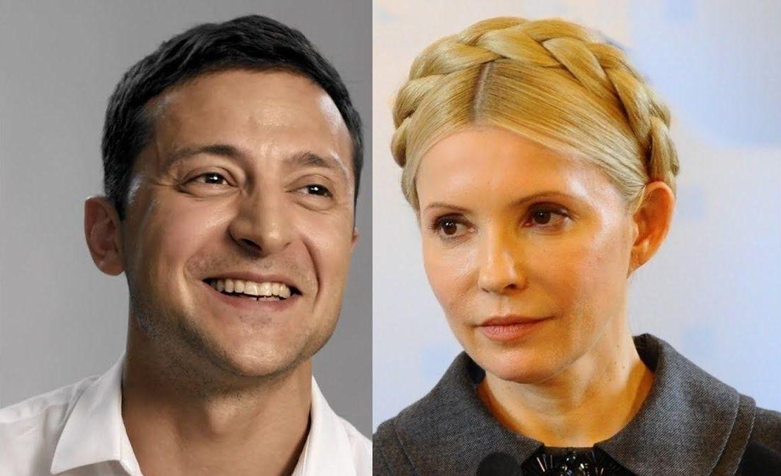 Зеленский обогнал Тимошенко в президентской гонке