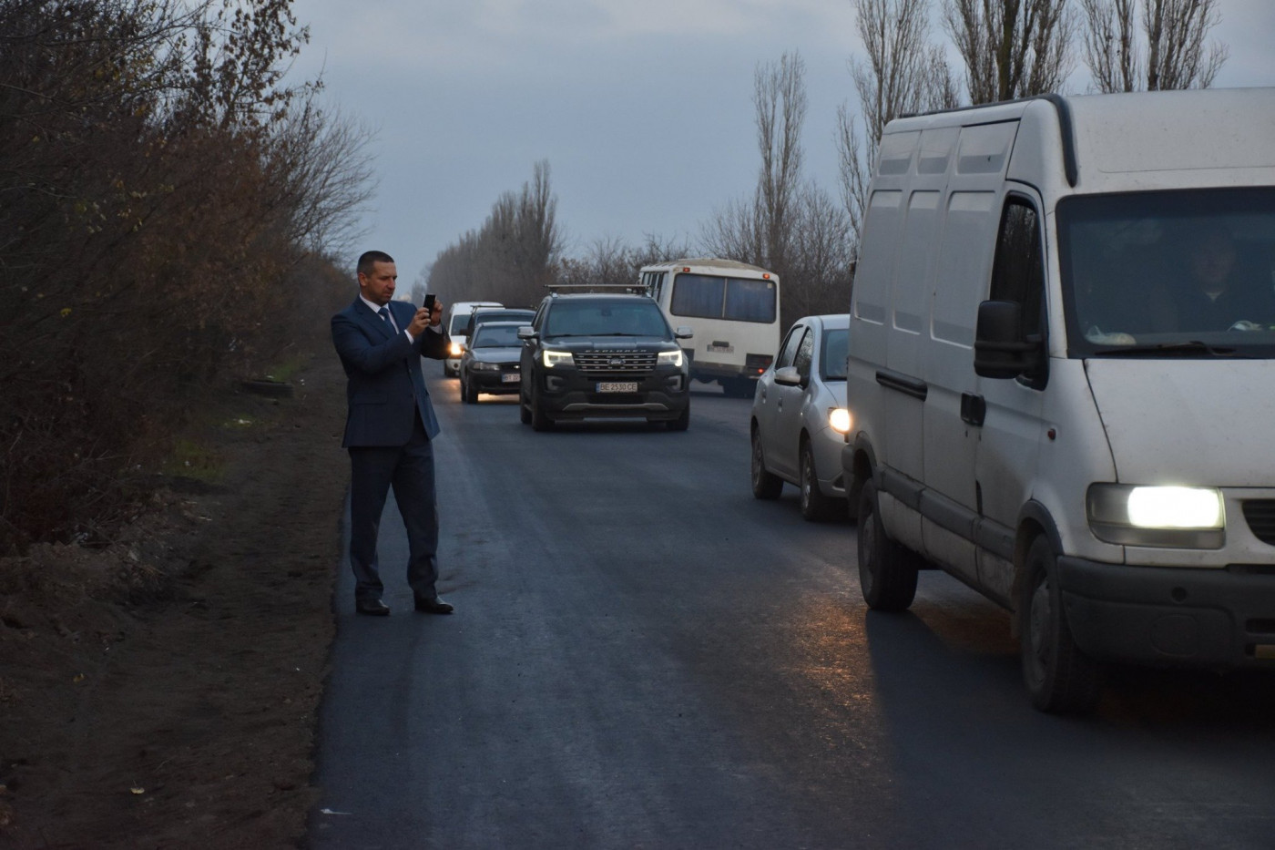 Глава Николаевской ОГА Стадник проехался по дороге