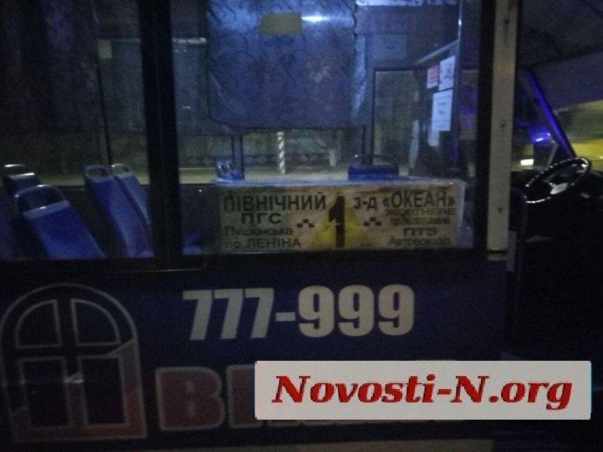 В Николаеве полицейские задержали пьяного водителя за рулем маршрутки