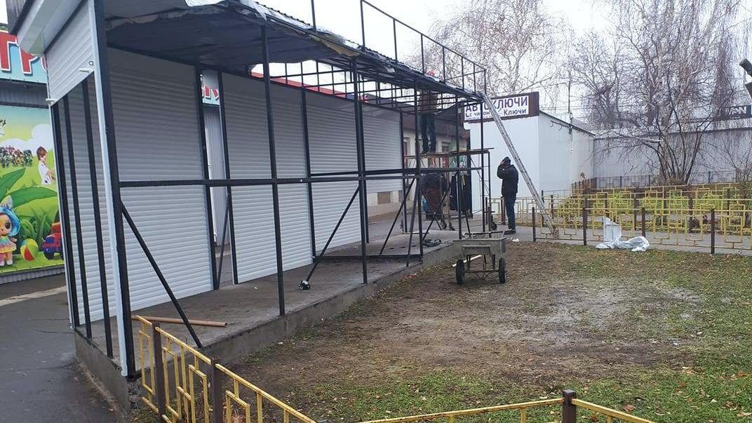 Фирма Чайки устанавливает в районе автовокзала несколько ларьков