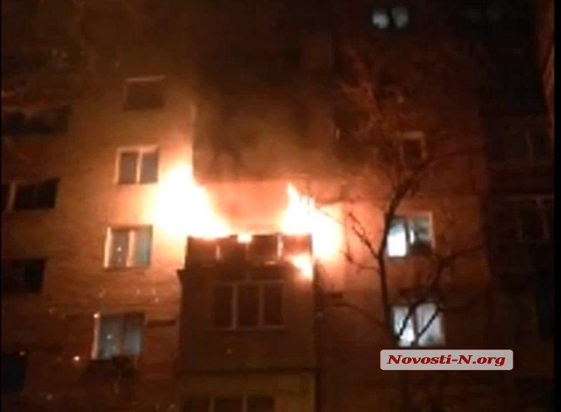 Из-за новогодней гирлянды загорелась квартира в николаевской девятиэтажке