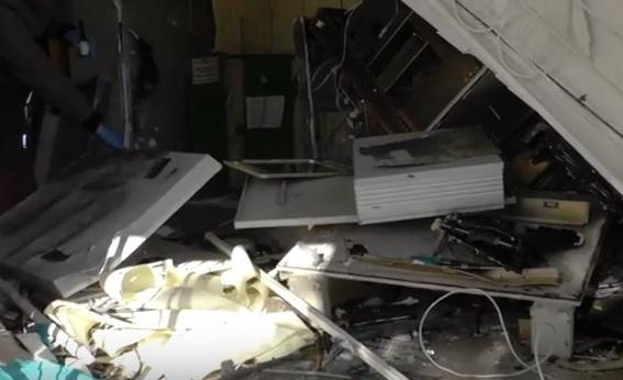 Видео с места взрыва банкомата в Корабельном районе