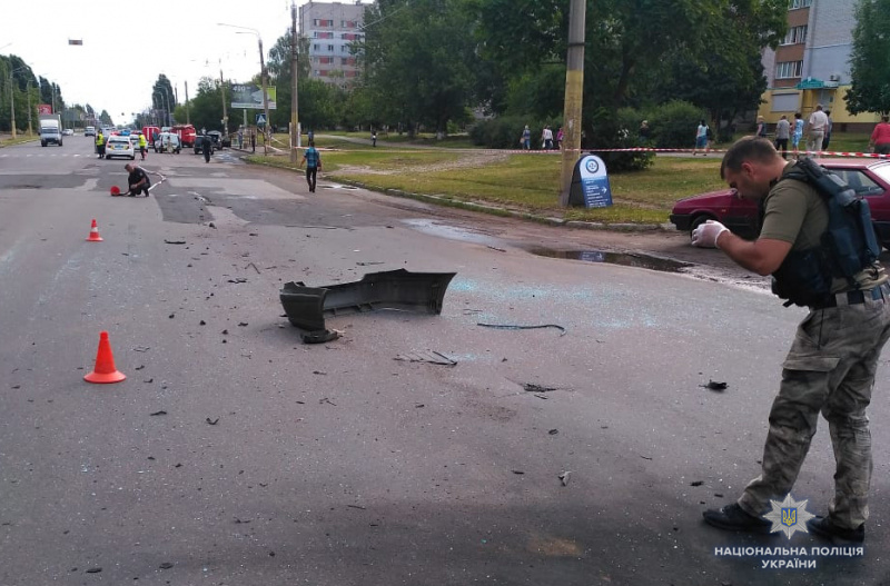 В Черкассах в результате взрыва автомобиля погиб местный бизнесмен