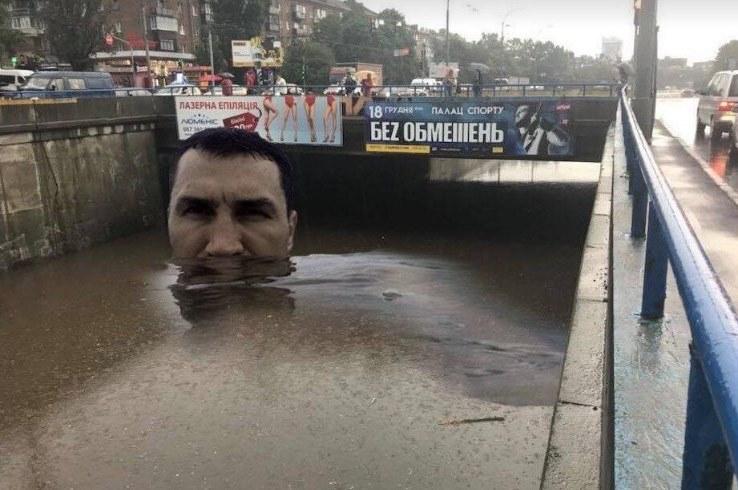 Из-за очередного киевского потопа в социальных сетях требуют отставки Кличка