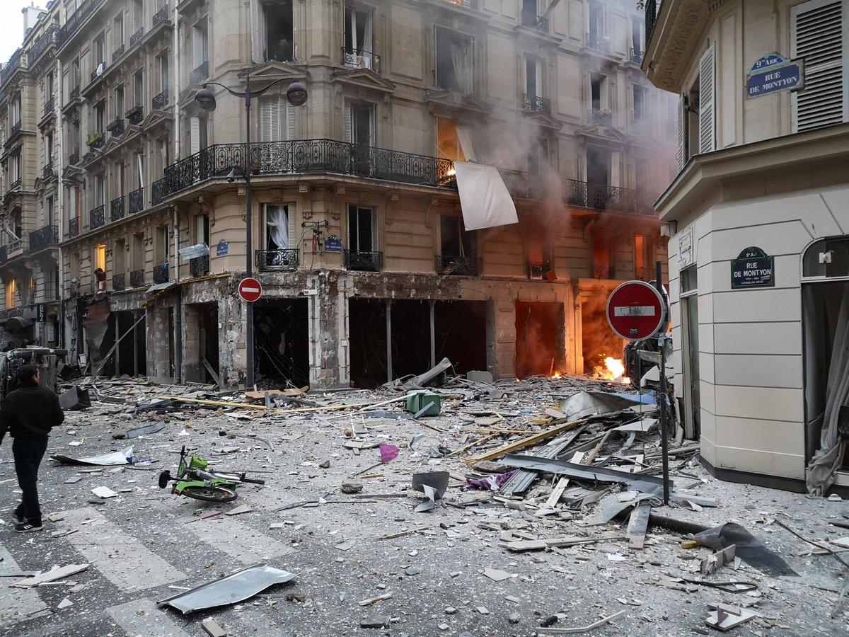 В магазине в центре Парижа прогремел взрыв (Видео)