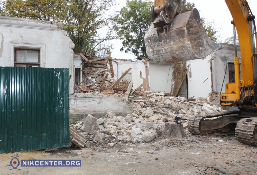 В исторической части Николаева уничтожили часть дома, который принадлежал семье Аркасов