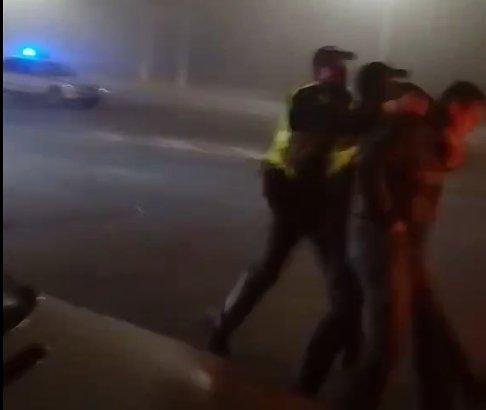 Таксиста за оскорбление патрульных в Корабельном районе повалили на землю