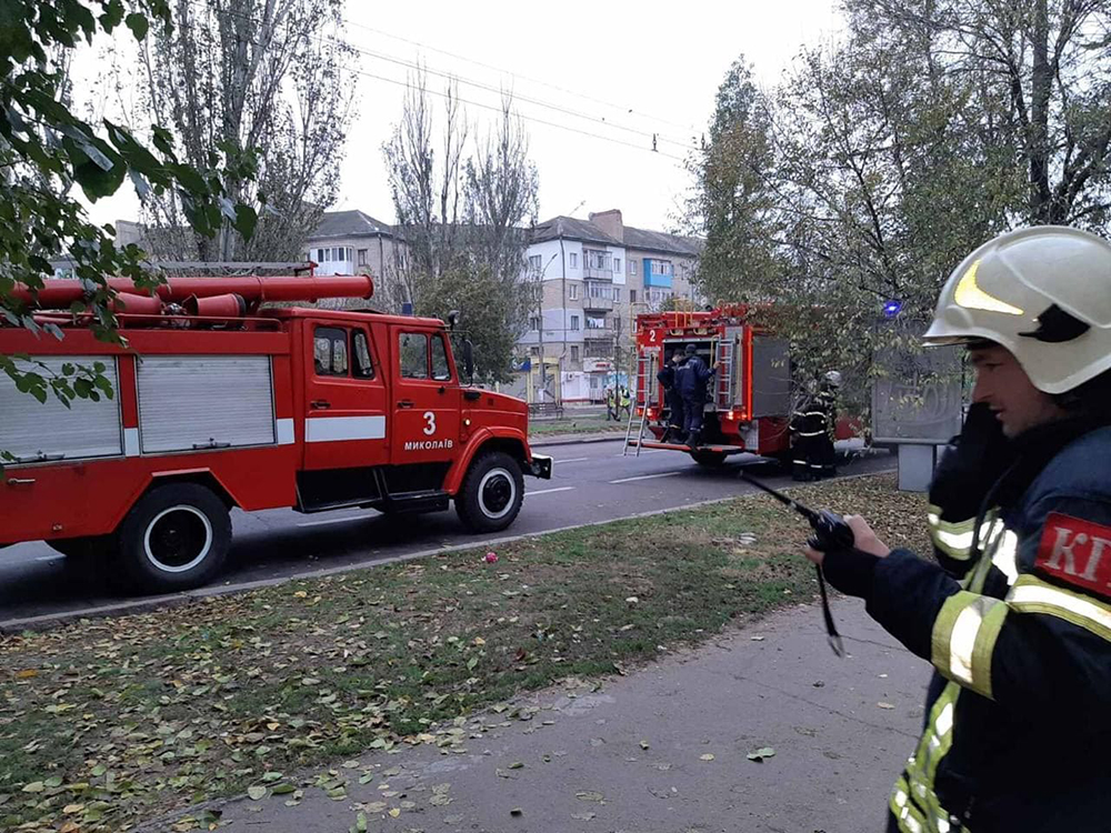 В Николаеве горел МАФ – спасатели успели вовремя