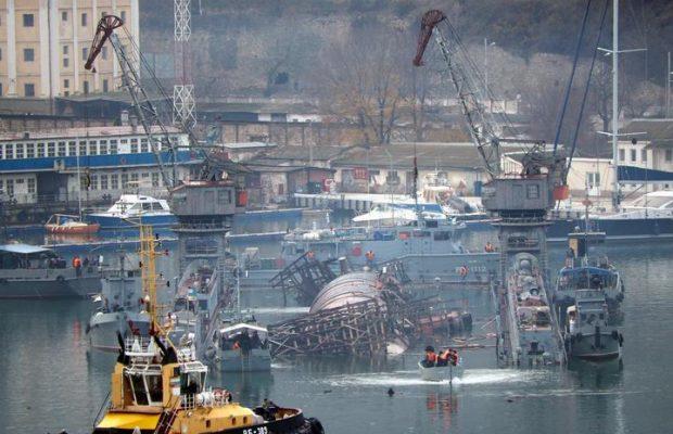 """У Севастополі затонула російська субмарина """"Князь Георгій"""" із плавдоком"""