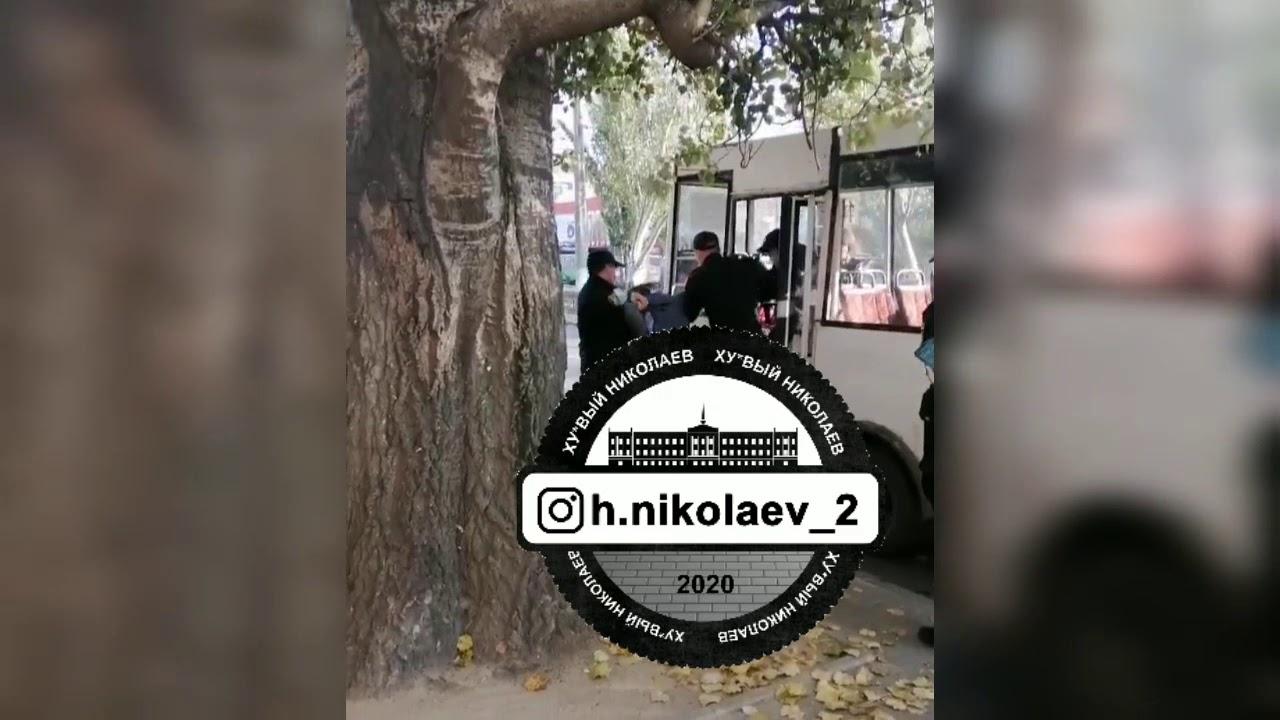 В николаевской полиции прокомментировали инцидент с жестким задержанием пассажира без маски